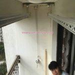 Lắp giàn phơi thông minh Hòa Phát tại Times City nhà anh Bình, Tòa T8