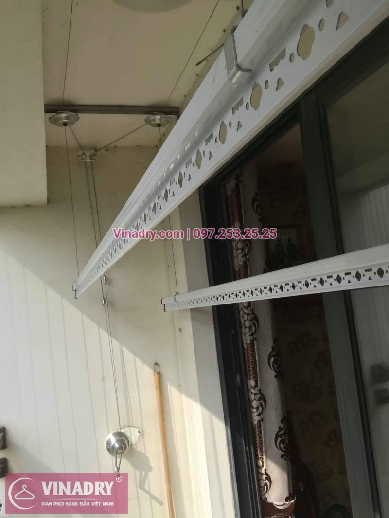 Lắp giàn phơi thông minh Hòa Phát tại Times City nhà anh Bình, Tòa T8 - 05