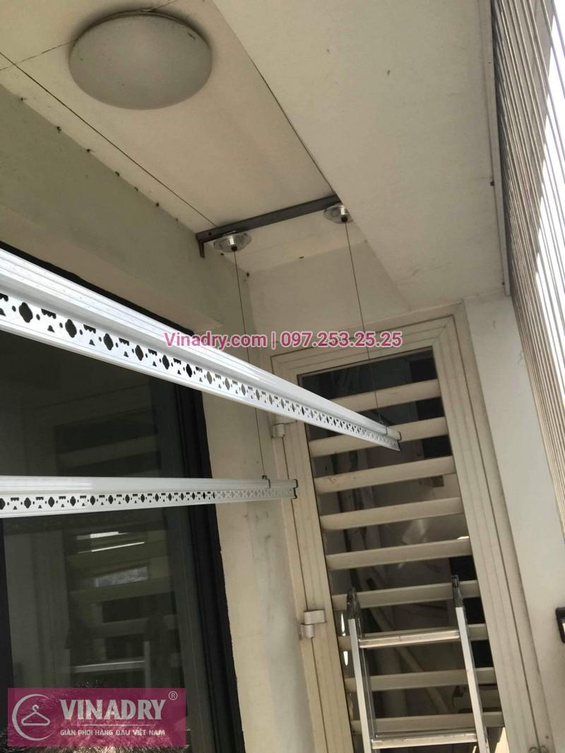Lắp giàn phơi thông minh Hòa Phát tại Times City nhà anh Bình, Tòa T8 - 06