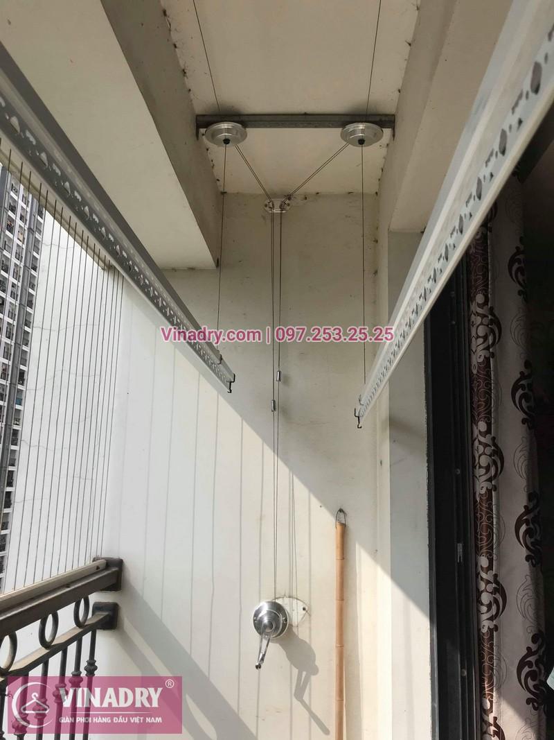Lắp giàn phơi thông minh Hòa Phát tại Times City nhà anh Bình, Tòa T8 - 07