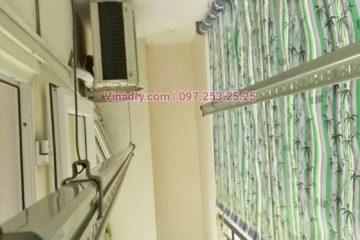 Thay dây giàn phơi thông minh giá rẻ tại Long Biên nhà chị Tú, chung cư HH2A Gia Thụy - 01