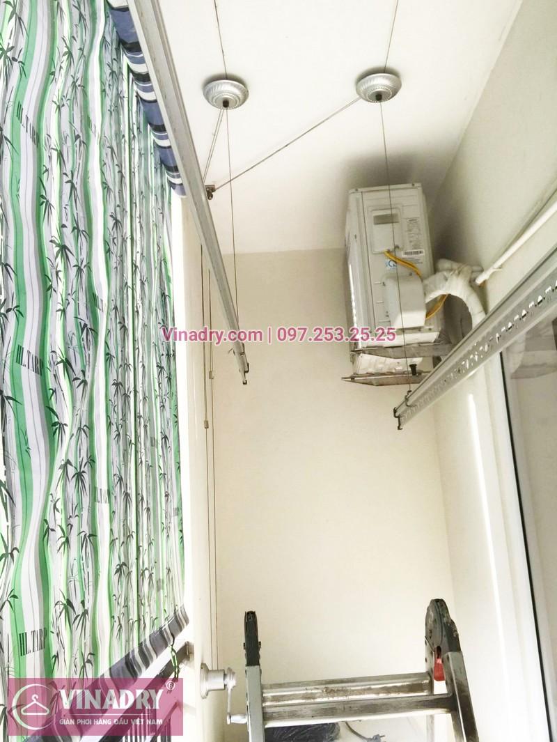 Thay dây giàn phơi thông minh giá rẻ tại Long Biên nhà chị Tú, chung cư HH2A Gia Thụy - 02