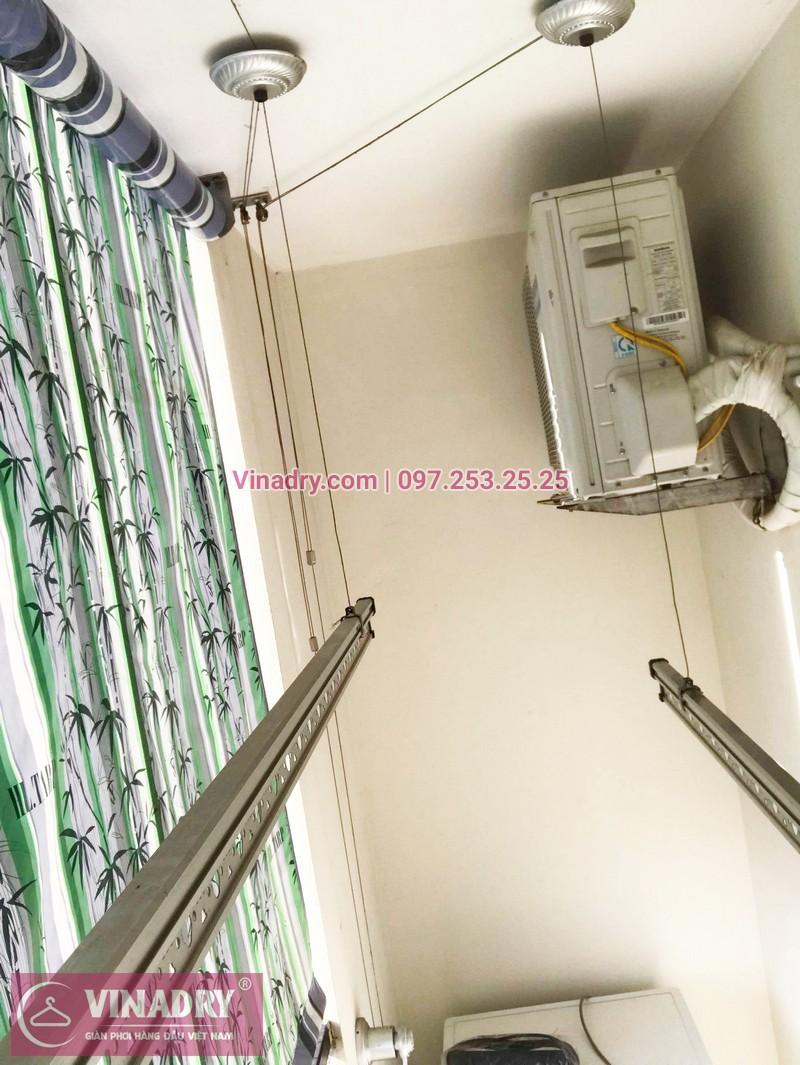 Thay dây giàn phơi thông minh giá rẻ tại Long Biên nhà chị Tú, chung cư HH2A Gia Thụy - 03