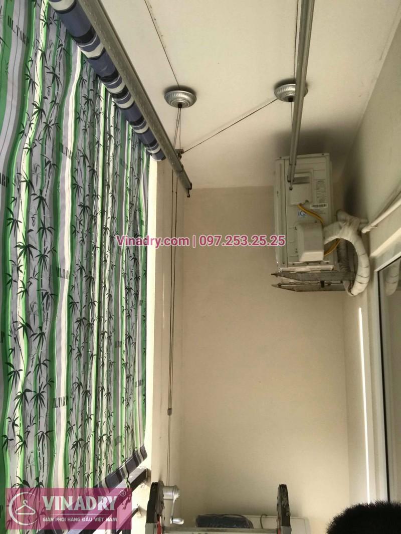 Thay dây giàn phơi thông minh giá rẻ tại Long Biên nhà chị Tú, chung cư HH2A Gia Thụy - 04