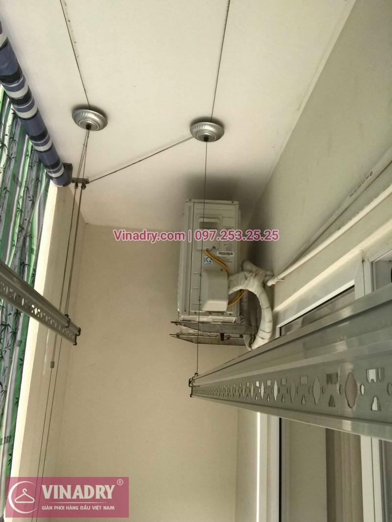 Thay dây giàn phơi thông minh giá rẻ tại Long Biên nhà chị Tú, chung cư HH2A Gia Thụy - 05