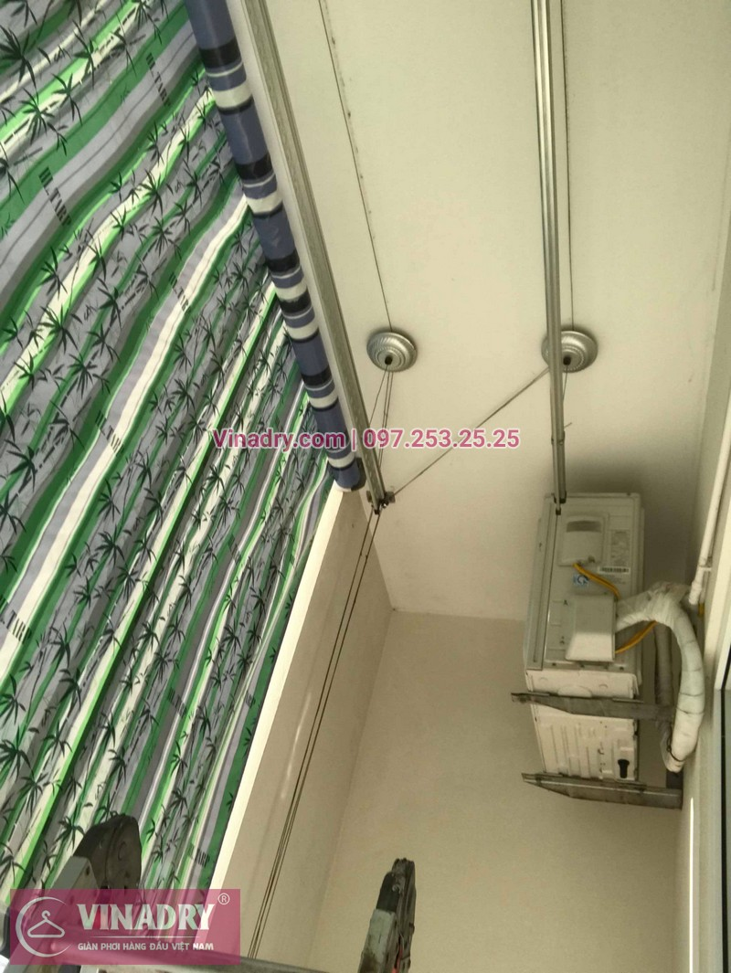 Thay dây giàn phơi thông minh giá rẻ tại Long Biên nhà chị Tú, chung cư HH2A Gia Thụy - 06