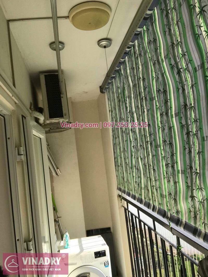 Thay dây giàn phơi thông minh giá rẻ tại Long Biên nhà chị Tú, chung cư HH2A Gia Thụy - 07