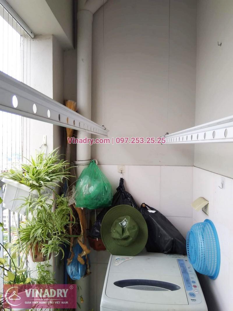 Sửa giàn phơi Hà Đông giá rẻ nhà chị Hảo, chung cư CT2 Xuân Mai Reverside - 04