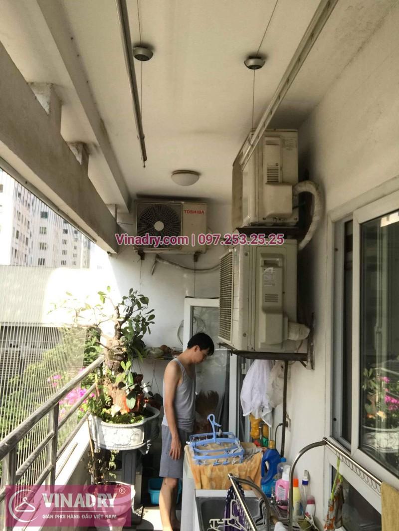 Sửa giàn phơi thông minh tại Hà Đông giá rẻ nhà anh Đào - 06