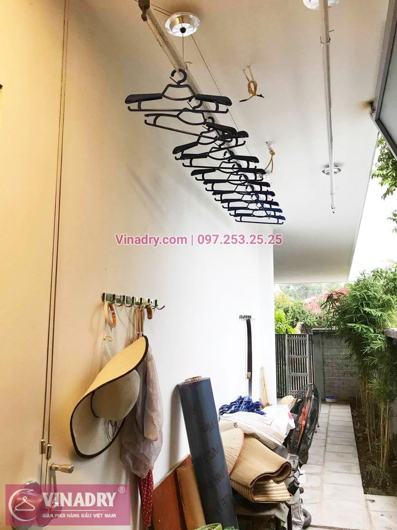 Lắp giàn phơi Hòa Phát 701 tại nhà chị Lan, Ninh Sở, Thường Tín