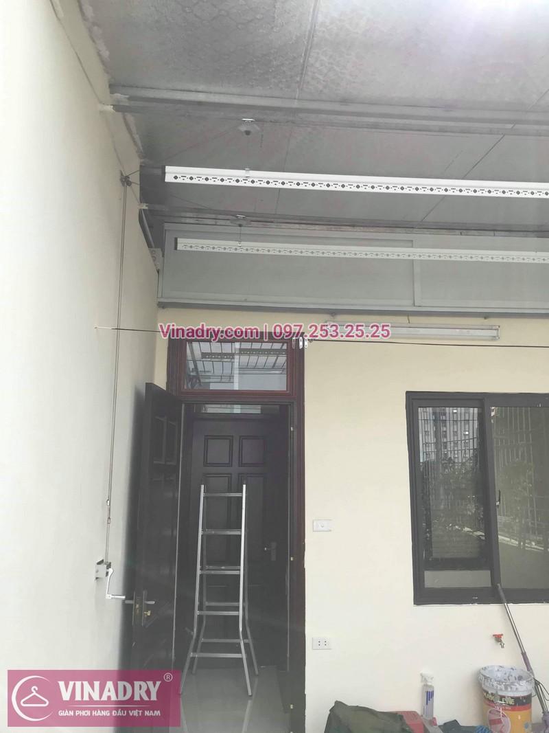 Lắp giàn phơi thông minh Hòa Phát tại Ba Đình nhà chị Tú, 210 Giảng Võ - 01