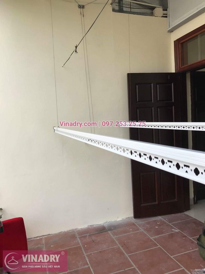 Lắp giàn phơi thông minh Hòa Phát tại Ba Đình nhà chị Tú, 210 Giảng Võ - 04