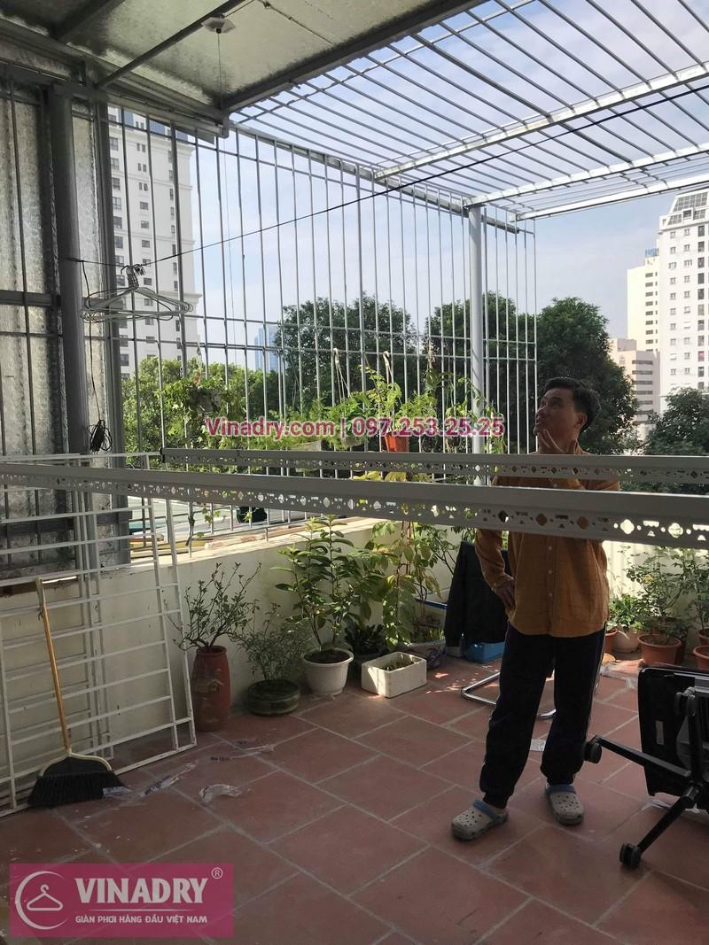 Lắp giàn phơi thông minh Hòa Phát tại Ba Đình nhà chị Tú, 210 Giảng Võ - 07
