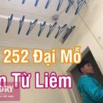 Lắp giàn phơi inox cao cấp tại Hà Nội nhà chị Lệ, ngõ 252 Đại Mỗ, Nam Từ Liêm
