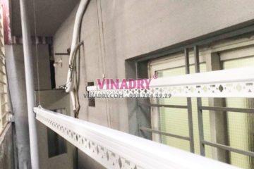 Lắp giàn phơi thông minh giá rẻ tại nhà chị Thảo, Long Biên, Hà Nội