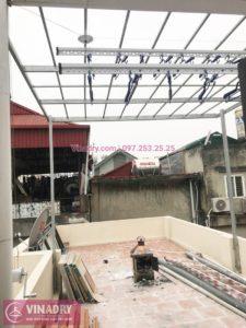 Hình ảnh giàn phơi thông minh Hòa Phát HP701 lắp đặt tại nhà chị Oanh, Đống Đa, Hà Nội - 05