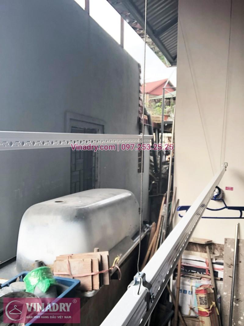 Hình ảnh lắp đặt giàn phơi thông minh Ba Đình nhà chú Thiết, ngõ 462 đường Bưởi - 04