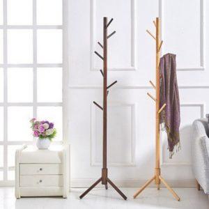 Cây treo quần áo bằng gỗ hình cây, loại đơn