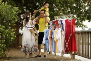 Giá phơi quần áo inox Duy Lợi 2 nhánh