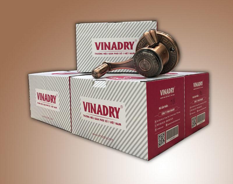 Bao bì sản phẩm giàn phơi Vinadry chính hãng