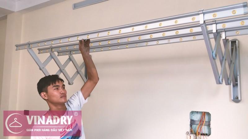 Giàn phơi quần áo trong nhà gắn tường Vinadry