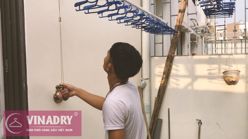Thiết kế gắn trần tiện dụng của giàn phơi quần áo Vinadry
