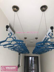 Lắp giàn phơi thông minh tại chung cư bộ công an, 43 Phạm Văn Đồng - 01