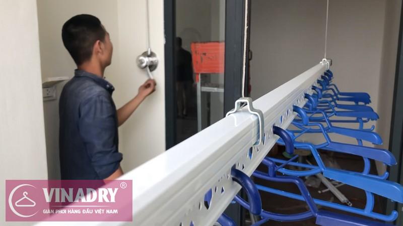 Lắp giàn phơi Vinadry gp901 tại An Bình City nhà anh Hữu, tòa A3 - 08