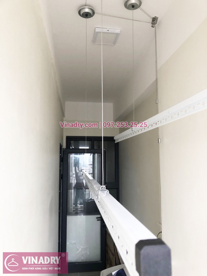 Lắp giàn phơi thông minh tại An Bình City nhà chị Thủy, căn 1007 tòa A4 - 02