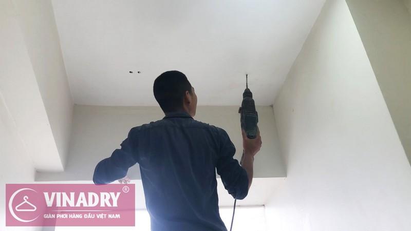 Lắp giàn phơi Vinadry gp901 tại An Bình City nhà anh Hữu, tòa A3 - 02
