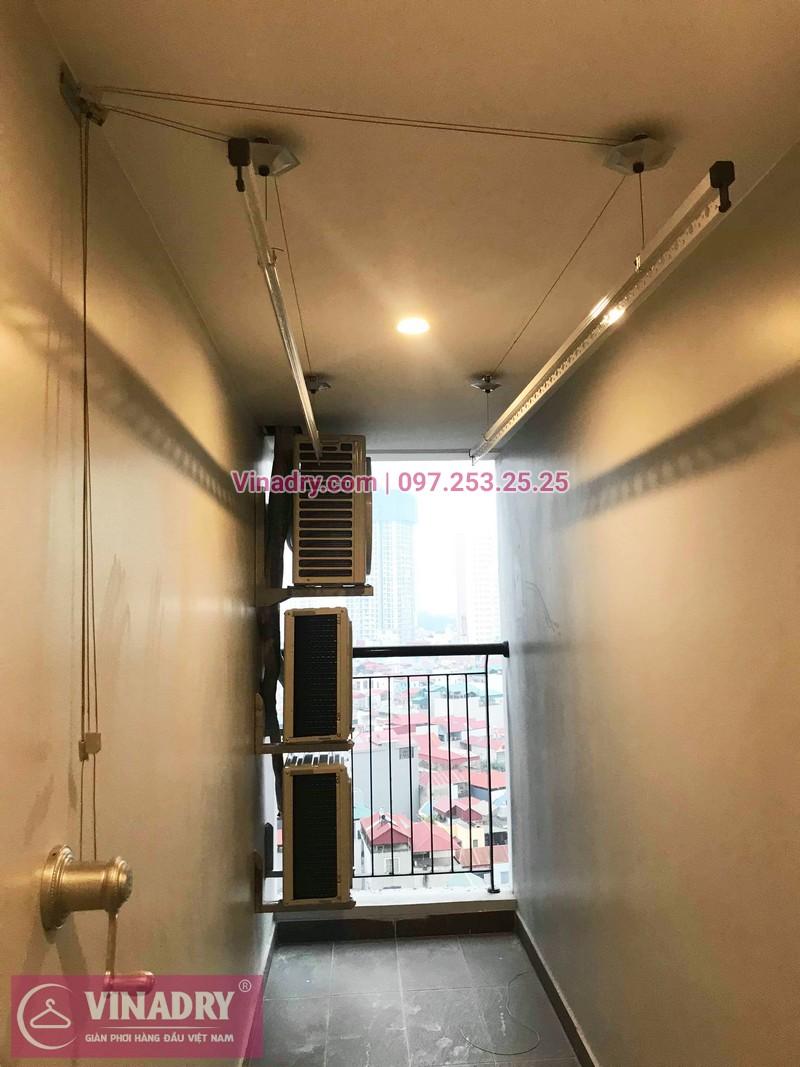 Lắp giàn phơi thông minh chung cư Sky Park số 3 Tôn Thất Thuyết nhà chị Hòa - 01