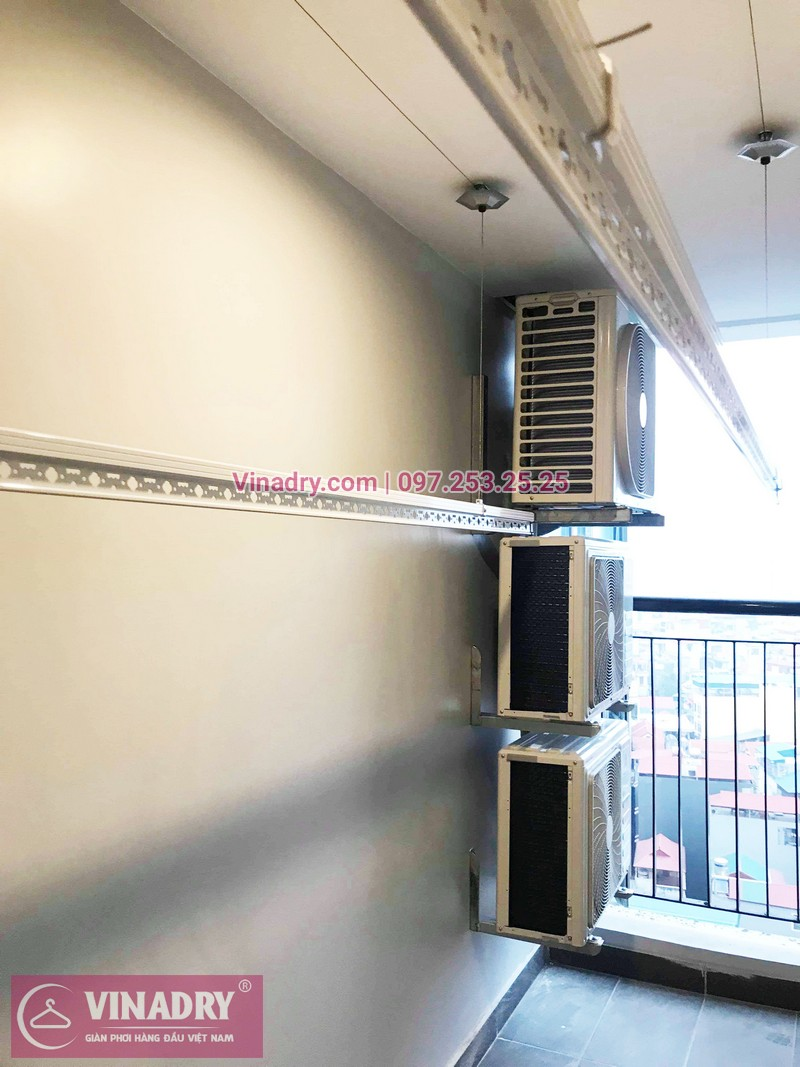 Lắp giàn phơi thông minh chung cư Sky Park số 3 Tôn Thất Thuyết nhà chị Hòa - 02