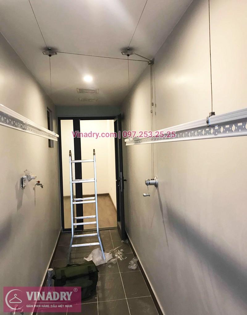 Lắp giàn phơi thông minh chung cư Sky Park số 3 Tôn Thất Thuyết nhà chị Hòa - 03