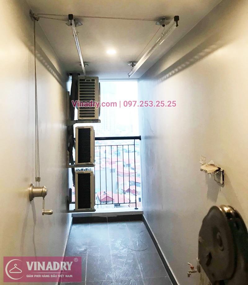 Lắp giàn phơi thông minh chung cư Sky Park số 3 Tôn Thất Thuyết nhà chị Hòa - 07
