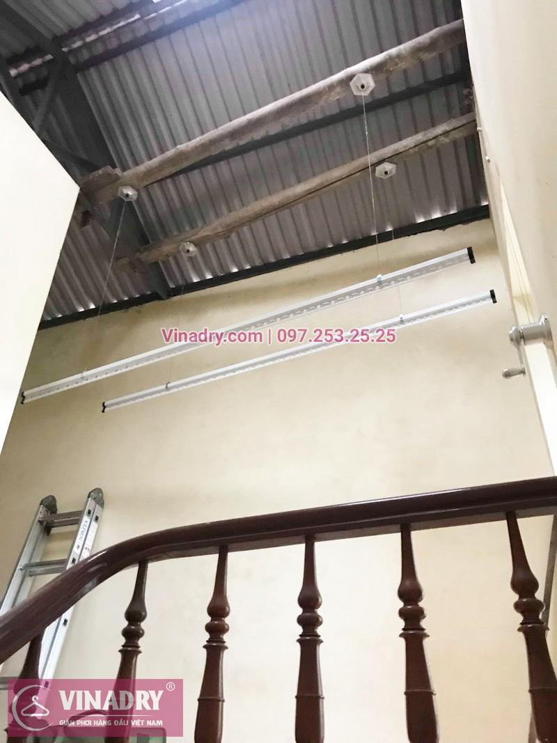 Lắp giàn phơi thông minh Long Biên bộ giá rẻ KS950 tại nhà chị Dưỡng, ngõ 435 Ngô Gia Tự - 01