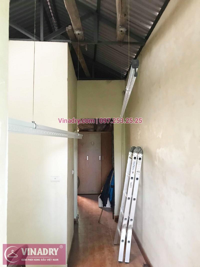 Lắp giàn phơi thông minh Long Biên bộ giá rẻ KS950 tại nhà chị Dưỡng, ngõ 435 Ngô Gia Tự - 03