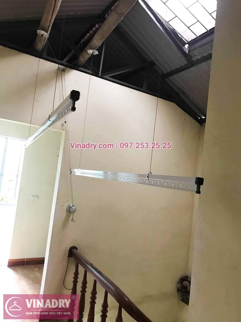 Lắp giàn phơi thông minh Long Biên bộ giá rẻ KS950 tại nhà chị Dưỡng, ngõ 435 Ngô Gia Tự - 02