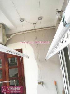 Lắp giàn phơi giá rẻ HP999B tại nhà chị Hoạch, Kim Mã, Đống Đa Hà Nội - 03