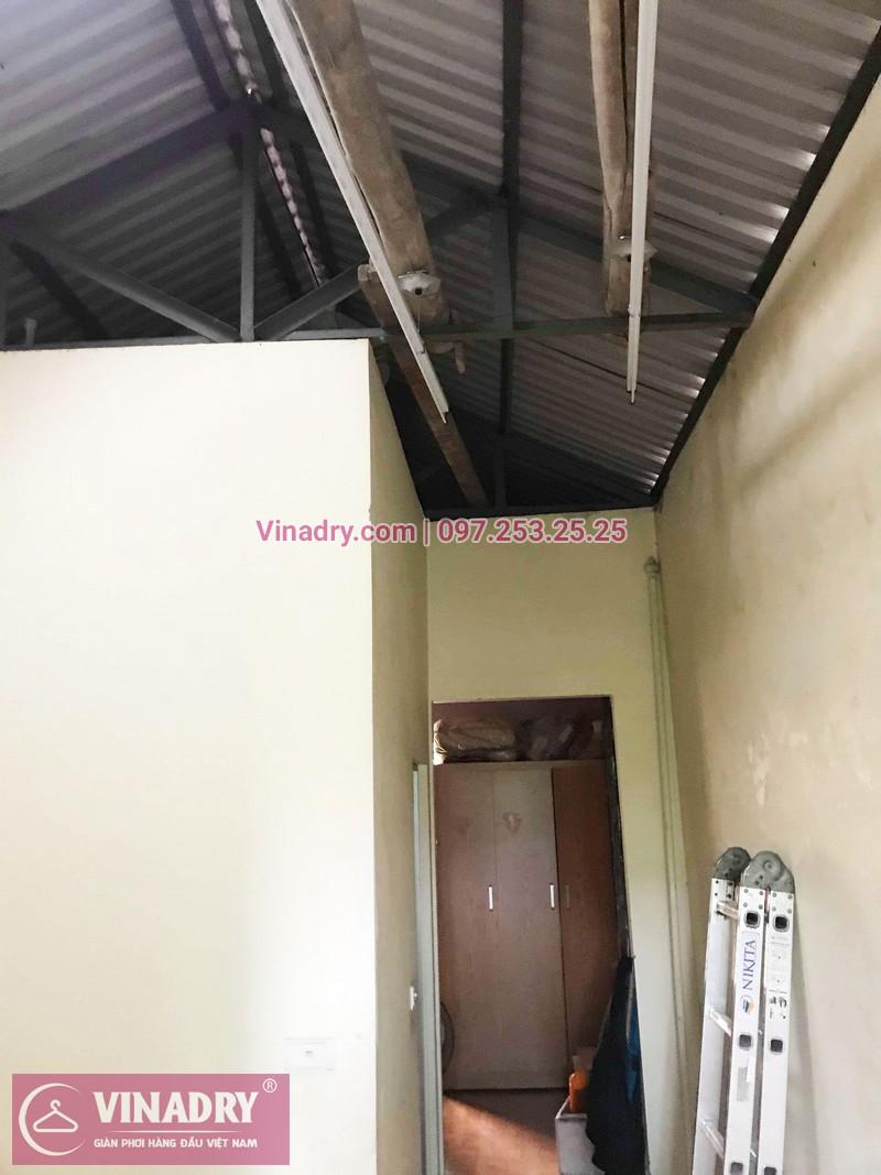 Lắp giàn phơi thông minh Long Biên bộ giá rẻ KS950 tại nhà chị Dưỡng, ngõ 435 Ngô Gia Tự - 05