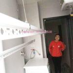 Vinadry lắp giàn phơi Hòa Phát giá rẻ tại nhà chị Nhung, chung cư HUD3 Nguyễn Đức Cảnh