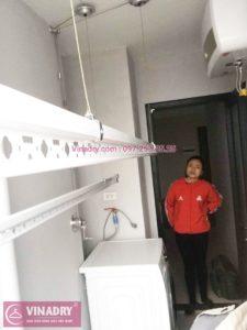 Vinadry lắp giàn phơi giá rẻ tại nhà chị Nhung, chung cư HUD3 Nguyễn Đức Cảnh - 01