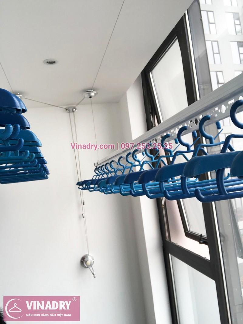 Lắp giàn phơi thông minh chung cư Sun Grand City Hoàng Hoa Thám nhà chị Quế, tòa S1 - 05