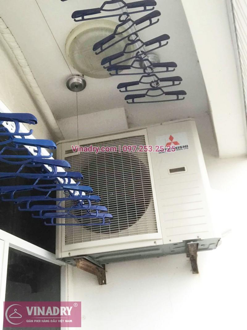 Lắp giàn phơi thông minh Hòa Phát Star tại chung cư Goldseason, 21 Đại Từ, Hoàng Mai, Hà Nội - 03