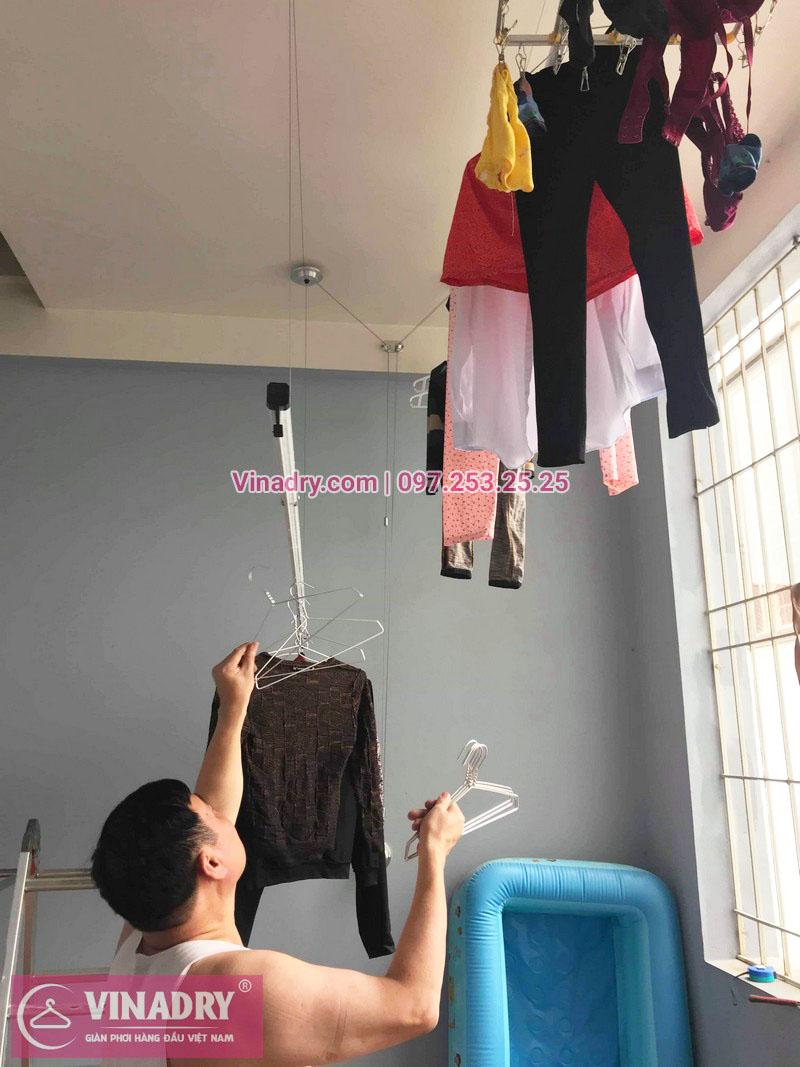 Lắp giàn phơi thông minh Sài Gòn nhà anh Thám, quận 7 - 03