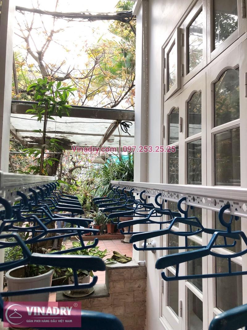 Lắp giàn phơi giá rẻ tại Tây Hồ nhà anh Hợp, ngách 47, ngõ 472 Lạc Long Quân- 06