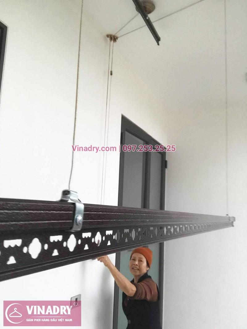 Lắp giàn phơi GP903 tại nhà cô Huệ, Đông Anh, Hà Nội - 01