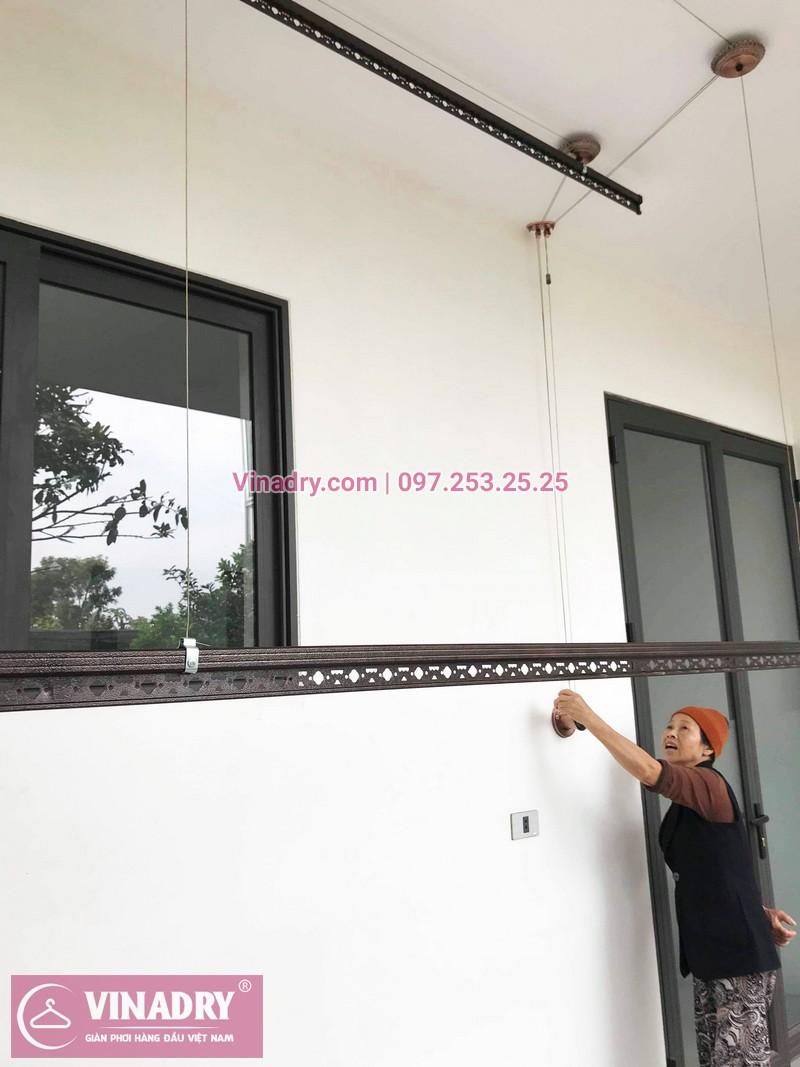 Lắp giàn phơi GP903 tại nhà cô Huệ, Đông Anh, Hà Nội - 02