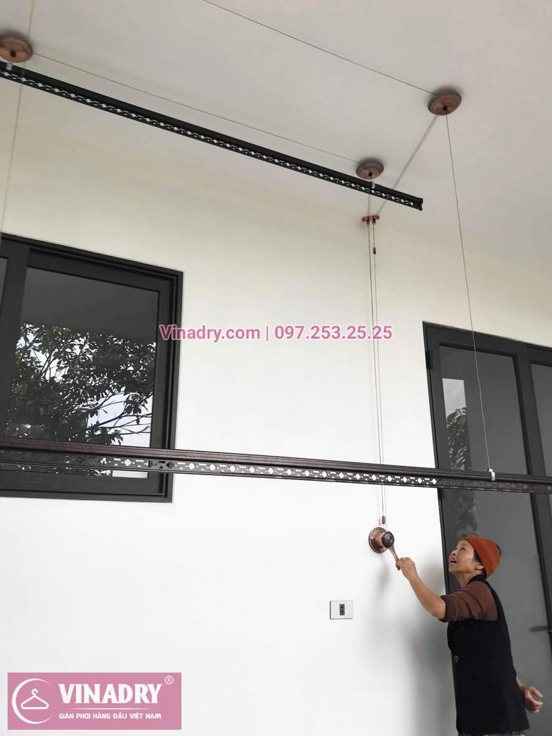 Lắp giàn phơi GP903 tại nhà cô Huệ, Đông Anh, Hà Nội - 04