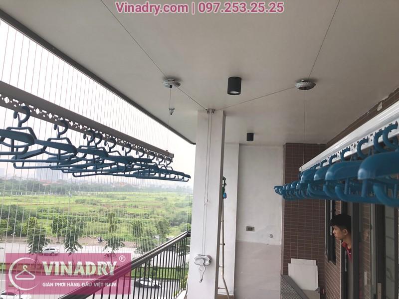 Lắp giàn phơi tại Vinhomes Gia Lâm mẫu Vinadry GP971
