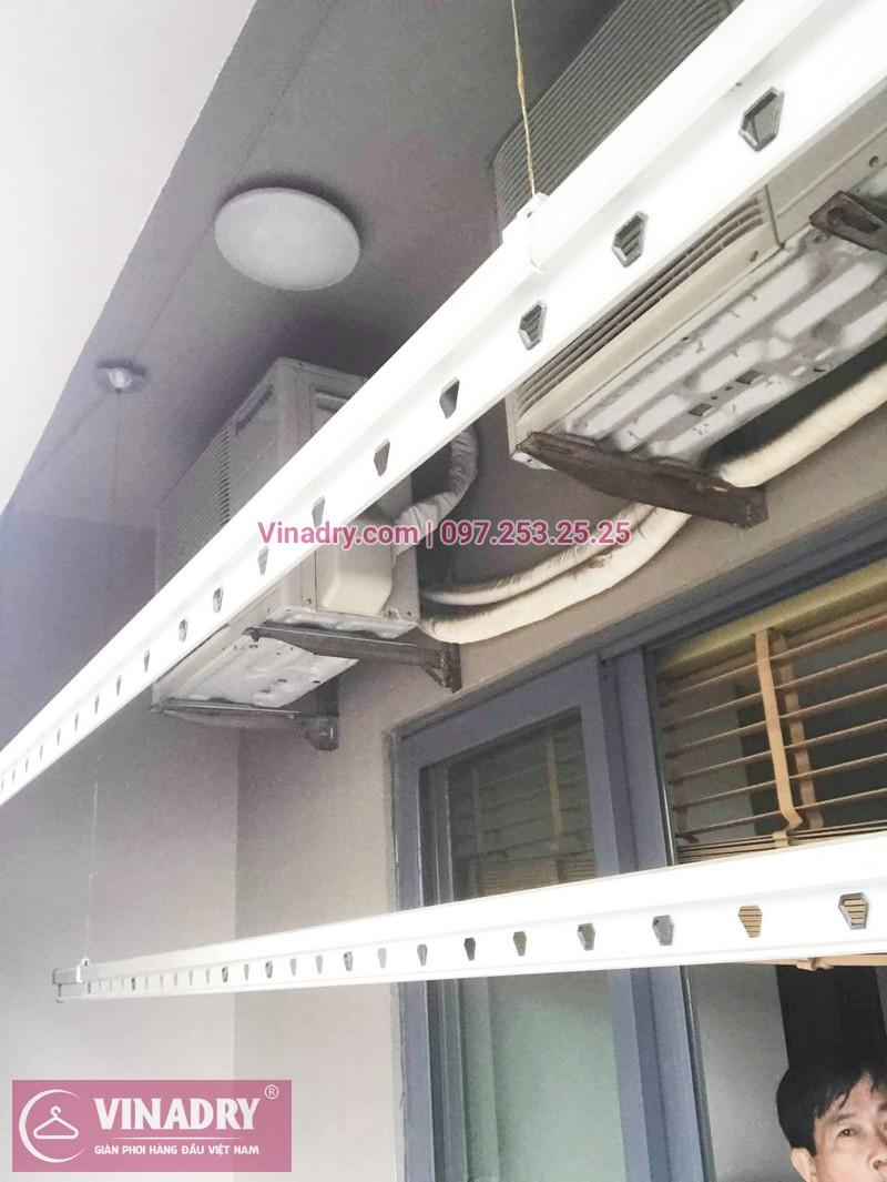 Sửa giàn phơi thông minh, thay củ quay giàn phơi giá rẻ nhà anh Toán, tòa HH1, Meco Complex, 102 Trường Trinh - 01